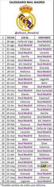 جدول مباريات ريال مدريد في الليجا 2019 2020 هاي كورة
